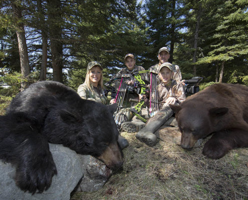 bear hunting with a bow Raised Hunting